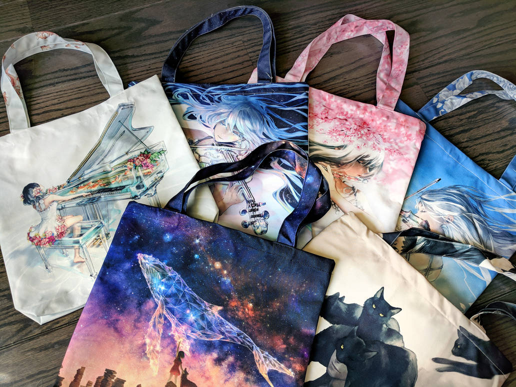 Tote Bags by yuumei