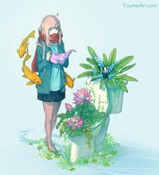 Green Throne Post by yuumei