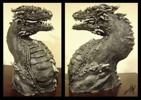 Dragon Sculpture by yuumei