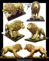 Lion Sculpture Version 2 by yuumei
