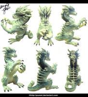 White Dragon Sculpture by yuumei