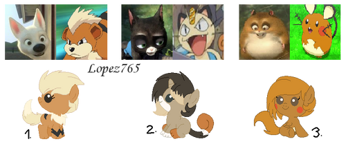Bolt X Pokemon adoptables: [Closed] by lopez765