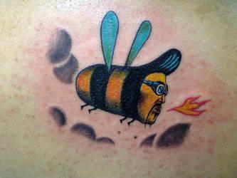 rocker bee by stigmatattoo