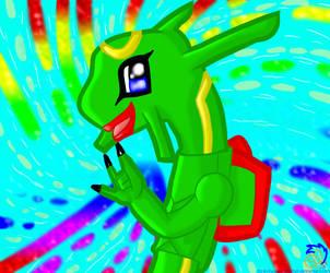 .::Chibi Rayquaza's Rave::. by Yoshizzer