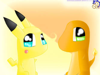 .::Pika and Char Squibbles::. by Yoshizzer