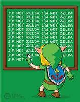 zelda... I mean LINK by karlyb-illustration