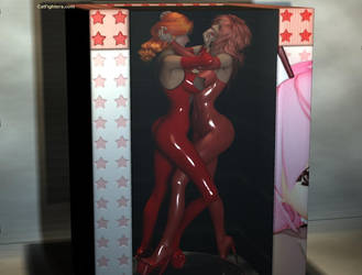 Latex Nude Catfight by westcat