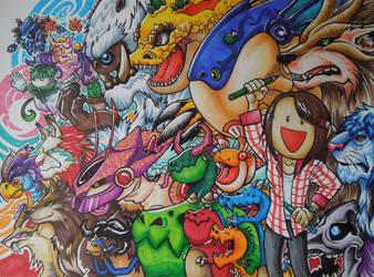 My Mascots Gathering by LetsongAkemi