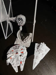 Star wars Bandai models by Drazeree