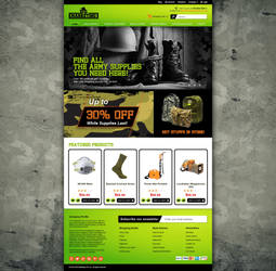 Web Interface Design for Soldier by GraphIcatZ