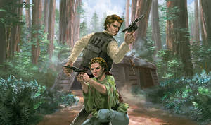 Solo And Leia: Battle of Endor by RustyPulley