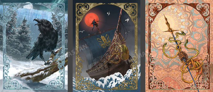 Art Nouveau- Game of Thrones cards #2 by RustyPulley