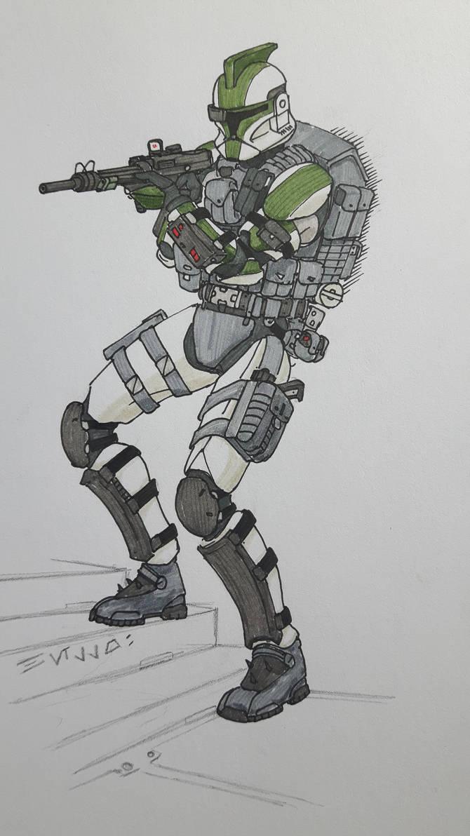 Storm Trooper Helmet Sketch