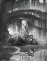 Centuar greyscale by LilyOndine