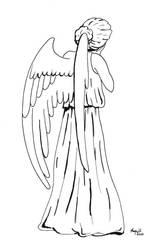 INKTOBER DAY 24 : WEEPING ANGEL by Margott022
