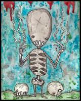 Skeleton Boy by justinaerni