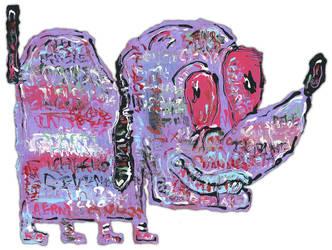 Purple Puppy by justinaerni
