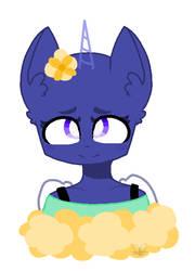 Mlp base- Flower head by DemonPuss