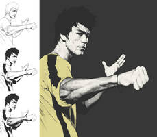 Bruce Lee working process by kse332