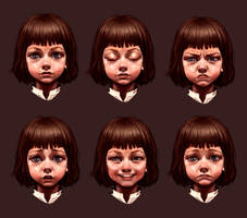 League of Legends Annie face expressions by kse332