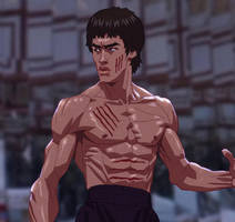 Bruce Lee Anime by kse332