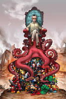 Stan Lee's OctoThrone for Comikaze by camilladerrico
