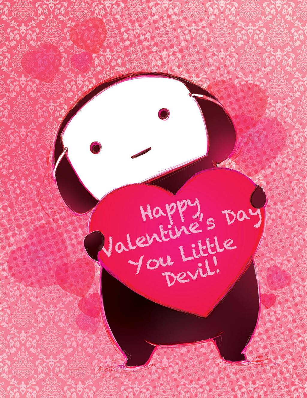 Kuro Valentines Card by camilladerrico