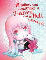 Tanpopo and Kuro Valentines Card by camilladerrico