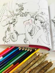 Pop Manga Coloring by camilladerrico