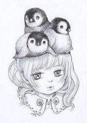 Penguins by camilladerrico