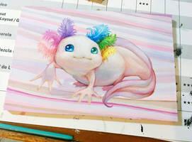 Axolotl by camilladerrico