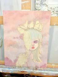 Albino girl in progress by camilladerrico