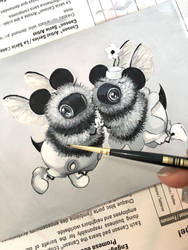 Mickey loves Minnie by camilladerrico