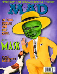 Fake MAD magazine cover of The Mask by GREEN-ICE-3D