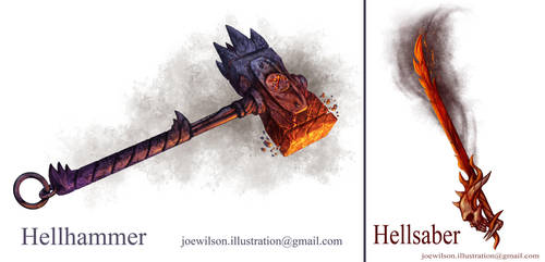 Weapon Concepts by JWilsonIllustration