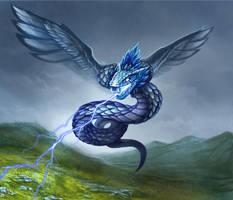 Storm Serpent by JWilsonIllustration