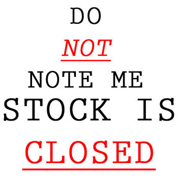 DO NOT NOTE ME - CLOSED by Demue