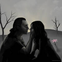 Loki and Darcy illustration for The Haunting by Lythara