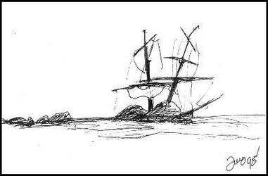 Ship Wreck by Joepegasus