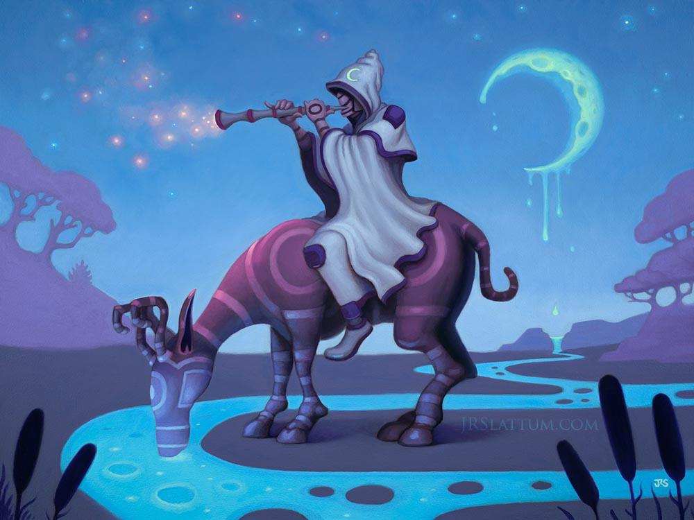 Sleeping Moon by jslattum