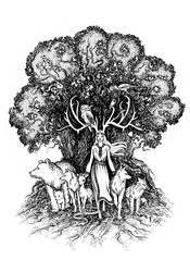 Rogata Pani Zwierzat, Lady of the Forest by barbarasobczynska