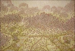 a drizzle under chestnut trees by barbarasobczynska
