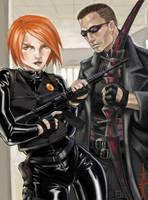 Hawkeye and Black Widow by endoftheline