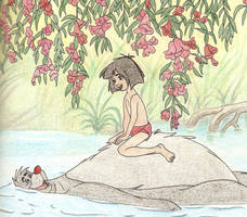 MOWGLI AND BALOO by FERNL