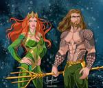 AQUAMAN AND MERA by FERNL