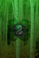 Slytherin iPhone 4/4s Lockscreen Walpaper by briely