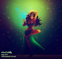 Indian Dancer- Green version by Komalash