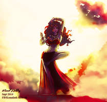 Indian Dancer- Red version by Komalash