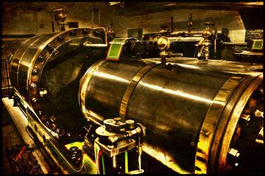 Antique Steam Engine by Mantis-nk