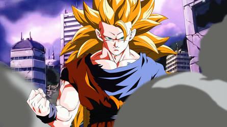 Fighting for Victory. Goku SSJ3 by Koku78